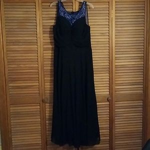 Womens black & blue semi-formal gown